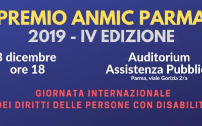 Il 3 dicembre il Premio Anmic Parma 2019