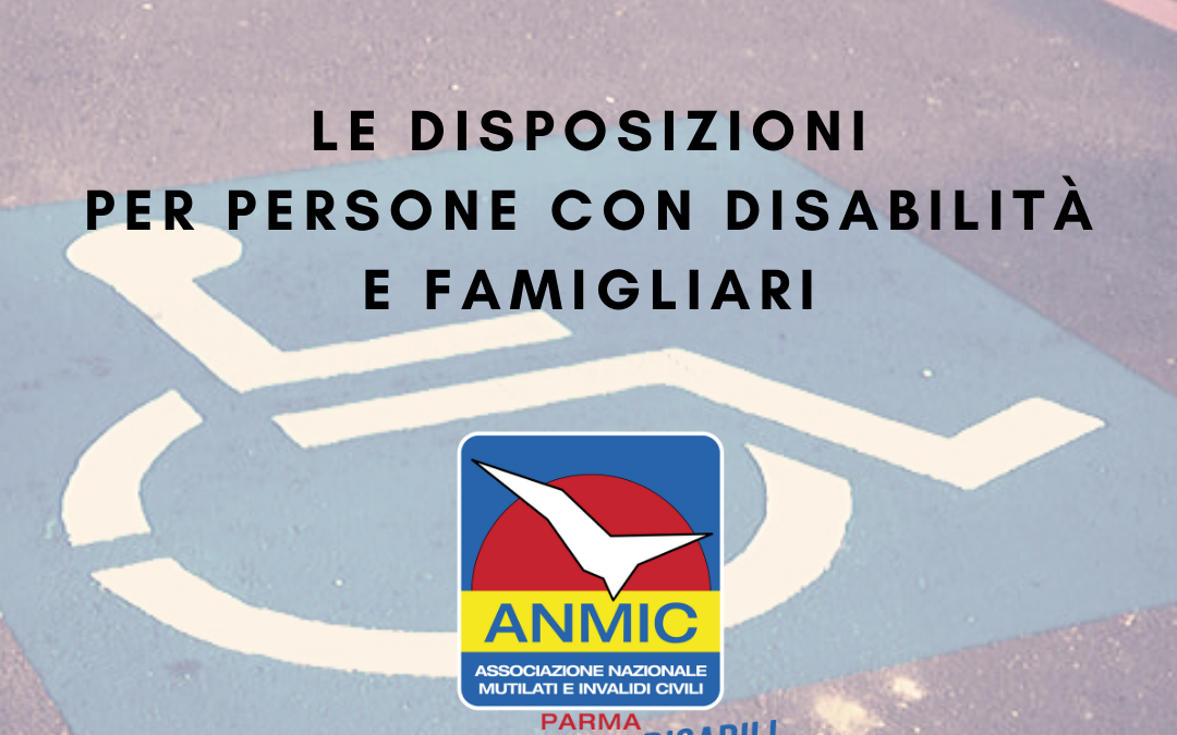 """Decreto """"Cura Italia"""": le disposizioni per persone disabili e famiglie"""