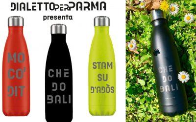Dialetto per Parma: le bellissime borracce per sostenere l'Anmic