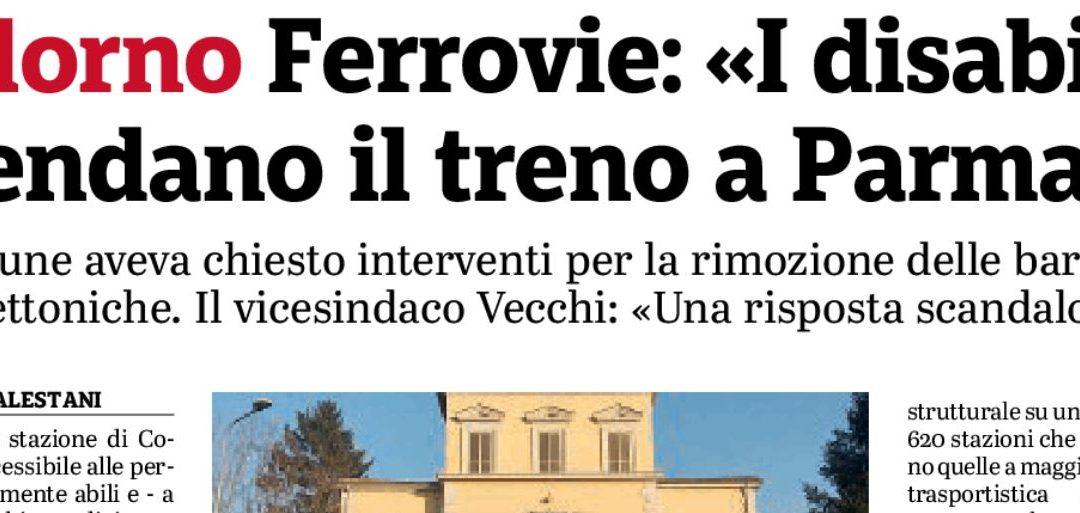 """Anmic: """"Le parole di Ferrovie sulla stazione di Colorno? Vergognose e offensive"""""""